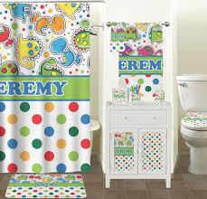 masks bathroom accessories set personalized potty:  dinosaur print amp dots waste basket personalized