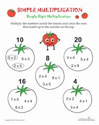 Simple Multiplication | Worksheet | Education.comThird Grade Multiplication Worksheets: Simple Multiplication