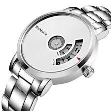 fashion <b>creative dial</b> stainless steel band quartz watch at Banggood