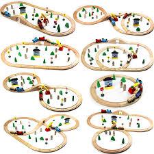 Обычные деревянные треки <b>поезд</b> набор игрушечные лошадки ...