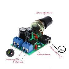 <b>LM386 Mini</b> Audio Power Amplifier Board <b>DC 3V</b>~12V 5V Module ...