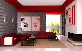 awesome red and white feat gray living room color ideas with red cozy sofa and dark brown wood table on the brown rug furnished with beautiful wall lighting awesome white brown wood
