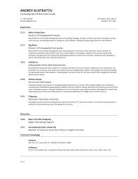 cv for video editor sample customer service resume cv for video editor short video resume andrey alistratov cinematographer editor colorgrader