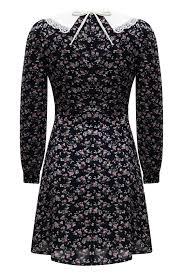 <b>Платье</b> School girl чернильное с цветочным принтом — <b>Botrois</b>