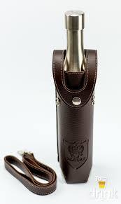 <b>Фляга</b> бутылка ссср в коричневом кожанном чехле 800 <b>мл</b>