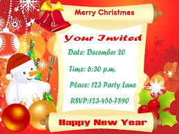 christmas party invitations for a magnificent green christmas party invites