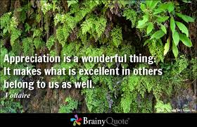 Appreciation Quotes - BrainyQuote via Relatably.com