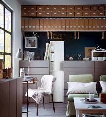 blue brown white home office blue home office