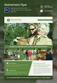 retirement flyers psd ai vector eps format customisable retirement flyer