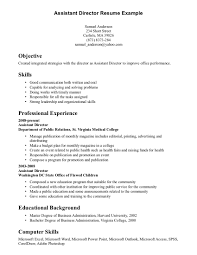 resume examples  resume qualifications examples resume objective        qualifications resume examples  assistant director resume example for objective with skills and professional experience  resume