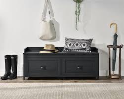 Ameriwood Furniture   Farmington Entryway <b>Storage Bench</b>, <b>Black</b> Oak