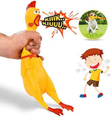 """Pet Supplies : Hilarious 15"""" <b>Rubber</b> Screaming <b>Chicken</b> Toy For ..."""