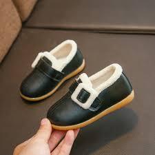 <b>AFDSWG PU Kids</b> Stud Shoes Warm Plus Velvet Child Shoe Girl ...