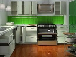 kitchen green tiles nice