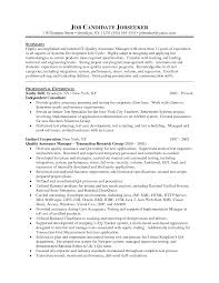 sample summary statements for resumes breakupus splendid sample summary statements for resumes resume examples sample summary statement for resume examples quality manager sample