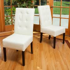 Tufted Leather Dining Room Chairs Tufted Leather Dining Chair Dining Room Contemporary With Brown