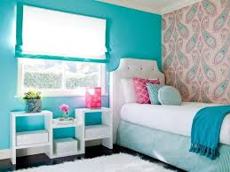 blue interior color for teenage bedroom with white leather upholstered bed and white wooden stand bookcase bedroom furniture for teenage girls