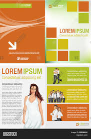 yellow orange and green template for advertising brochure yellow orange and green template for advertising brochure w in white dress