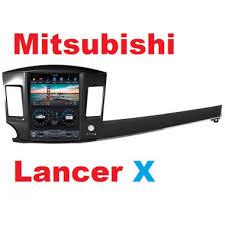 <b>Андроид магнитола</b> в стиле <b>Тесла</b> для Mitsubishi Lancer X