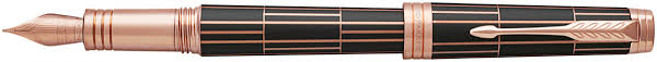 <b>Parker Premier</b> Fountain Pen - <b>Luxury</b> Brown Pink Gold Trim