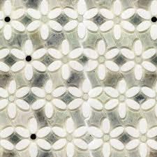 mirror white mosaic tile
