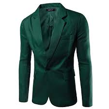 Buy elegantstunning Men Slim Single button Lapel Suit <b>Simple Solid</b> ...