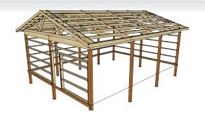 Pole Barn Plans and Materials   Redneck DIYPole Barn Framing   Left