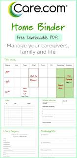 best ideas about nanny binder nanny activities the care com home binder to organize your family caregivers and life