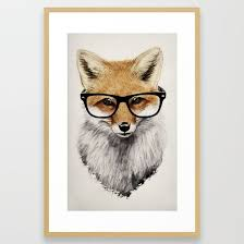 <b>Mr</b>. <b>Fox</b> Framed Art Print | Minnetonka Hills Apartments | Fox art, Fox ...