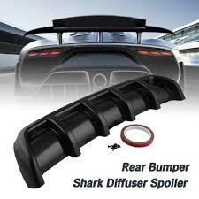 Universal 6 Fin Spoiler Kit <b>Car</b>-<b>Styling ABS</b> Curved Bumper Lip ...