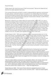art modernism essay with  artists  year  hsc   visual arts  art modernism essay with  artists