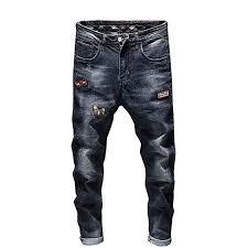 <b>Men's Fashion</b> Slim <b>Fit Jeans</b> Casual Stretch <b>Denim</b> Pant Classic 5 ...