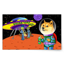 Shibe Doge Astro and the Aliens Memes Cats Cartoon Rectangular ... via Relatably.com