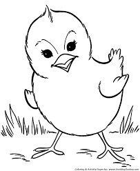 Small Picture Farm Animal Coloring Pages Spring baby chick Coloring Page and