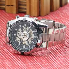EYe  ~Men's Hollow <b>Skeleton Dial Automatic Mechanical</b> Stainless ...