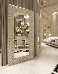 home accents interior decorating: italian designer quilted leather floor mirror so elegant sharing hollywood luxury lifestyle home decor