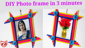 <b>Photo</b> frame making at home | <b>Wall hanging</b> decoration ideas ...