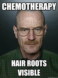 Chemotherapy Hair Roots Visible - Advice Walter White - quickmeme via Relatably.com