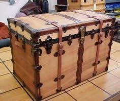 <b>Large</b> Antique Flat Top Trunk | Trunks and Treasure Chests ...