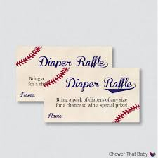 baseball baby shower diaper raffle tickets and diaper raffle 128270zoom
