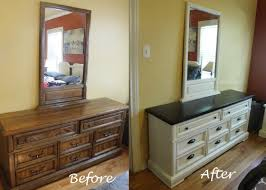 last summer i wanted to give our bedroom a little make over and decided to paint all of our bedroom furniture i think i started working on everything back bedroom furniture makeover