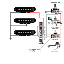 guitar wiring, tips, tricks, schematics and links Dimarzio Single Coil Pick Up Diagrams blend on standard strat wiring converted to master vol, master tone, and blend on pot for bridge pickup Single Coil Pickups
