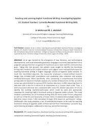 publication pdf teaching and learning english functional publication pdf teaching and learning english functional writing investigating ian efl student teachers currently needed functional writing skills