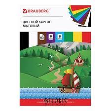 Картон <b>цветной</b> Кораблик (<b>Brauberg</b>) купить в Интернет ...