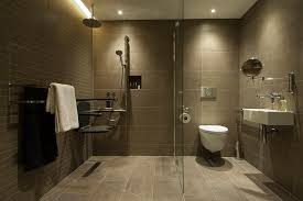 Image result for handicap bathroom with entire room is waterproof