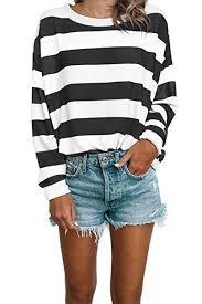 <b>Women</b> Long Sleeve Tops - Oversized <b>Rainbow Striped</b> Tunics ...