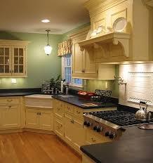 corner sinks design showcase: multi level traditional kitchen with a daft little corner sink