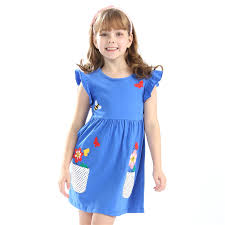 <b>Hot selling</b> baby <b>girls</b> summer embroidery dresses kids <b>top quality</b> ...