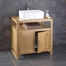 washstand bathroom pine: cm wide cube solid oak freestanding bathroom washstand unit with sink basin in home furniture