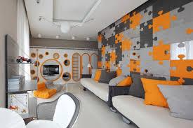 bedroom ideas bright orange paint